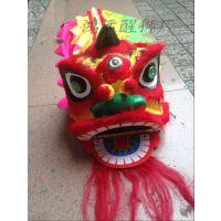 厂家直批 表演舞龙舞狮道具 8寸狮头 大童儿童醒狮狮子头