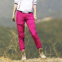 户外登山女士弹力透气速干九分裤徒步新款旅游休闲裤工装快干裤