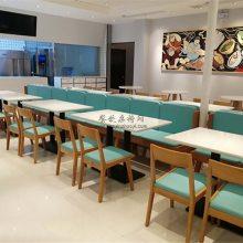 日式风格面馆家具定做,日式靠墙卡座沙发桌椅直销