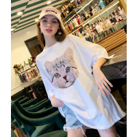 庙会赶集几元T恤服装货源去哪找2019女士短袖库存服装纯棉T恤亏本清货
