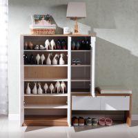 现代简约鞋柜超薄门厅玄关柜烤漆隔断柜组合带换鞋凳大容量多功能