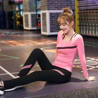 胸垫瑜伽服大码修身体育套装冬天舞蹈新款活力健身冬款女子健身服
