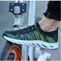夏季飞织透气男鞋 网面运动鞋减震穿孔跑步鞋潮鞋休闲针织旅游鞋厂