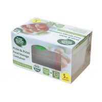 【香港品牌】多功能食品保鲜盒五件套 储物盒 收纳盒 食物生鲜果蔬冰箱冷藏微波炉加热