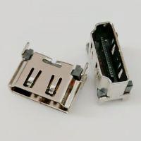 HDMI 立式贴片母座/19P-A型/180度四脚插板DIP/SMT贴板/高度10.5/带防尘塞