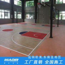 运动木地板 运动场地板铺设