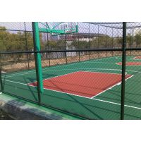 赣州大余县球场围网 围栏绿色菱形勾花网体育场围栏网篮球场围栏厂家