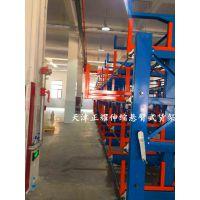 货架厂家直销 伸缩式悬臂货架经典案例 上海钢材存放架 方便节省空间