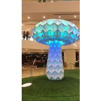 抖音同款 七彩发光蘑菇树 艺术互动设施 大型商场活动道具 青和文化厂家直销