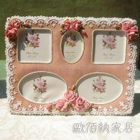 5框组合粉色玫瑰花田园树脂相框欧式相框相架厂家货源小商品批发