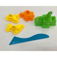 热销沙滩玩具 太空粘土 玩沙模具 diy手工塑形益智玩具城堡5件套