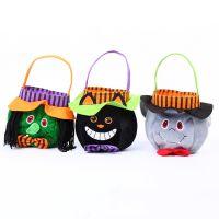 新款促销儿童礼品糖果袋万圣节派对化妆服饰道具布艺手提袋