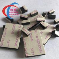 新秀厂家供应EVA脚垫黑色圆形背胶泡棉胶垫模切冲型3M单双面自粘减震防滑垫eva