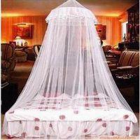 优质加密圆顶蚊帐吊挂式宫廷公主蚊帐床幔(1.5-1.8米内的床用)