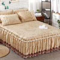 新款韩式公主蕾丝花边床裙 单件床罩 床垫保护套 防尘床单床盖