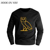 外贸新款猫头鹰男士长袖圆领套头印花卫衣潮