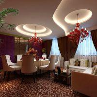 餐厅包房实木餐桌椅组合现代中式大圆桌带转盘