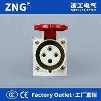 ZNG浙工电气工业插座明装16a4p 380V三相四线工业电源插座4孔16a