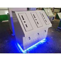 湖南湘西LOOCK/鹿客智能指纹锁展示柜木质柜台烤漆发光