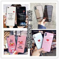 厂家苹果8彩绘玻璃手机壳8plus来图定做订制加工iPhoneX 6S 7plus