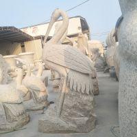 福建惠安厂家石雕动物丹顶鹤 花岗岩白鹤雕像 园林广场摆件工艺品可定制