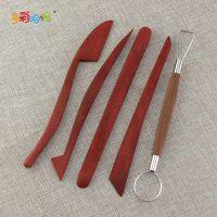 桃木泥塑刀 5件套 陶艺刀 软陶工具,超轻粘土工具,泥塑雕刻工具