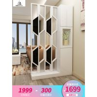 简约客厅家具时尚屏风隔断柜欧式镂空玻璃座屏玄关柜间厅柜门厅柜