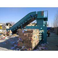 湖南全自动打包机价格 卧式200吨纸板纸箱压包机 卧式打包机效果如何 山东金亿机械设备