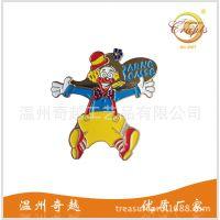 定制小丑马戏团胸章 烤漆小丑徽章 优质金属徽章 活动促销徽章