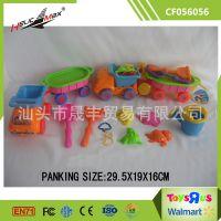 厂家直销创意益智沙滩玩具沙滩模具优质环保多配件沙滩桶9件套