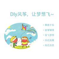 JSH手工卡通涂鸦飞侠奥特幼儿园儿童风筝纯白公主个性空白半成品