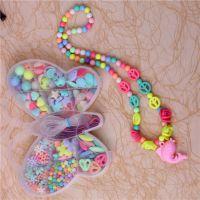 新款手工制作儿童造型甜蜜糖果串珠亲子益智玩具 春天色套装厂家
