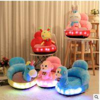 新款发光/音乐/讲故事儿童沙发毛绒玩具座椅婴儿学坐创意腰靠