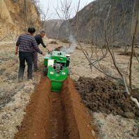 果园农家肥回填机厂家 35马力果树施肥机 蔬菜大棚果园开沟机