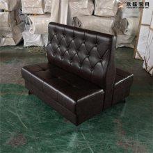 双面造型拉扣卡座沙发定制,拉扣西餐厅沙发生产商