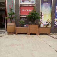黄山中达景观建材厂家直销精品水泥户外仿木花箱 钢筋混凝土成品种植花箱