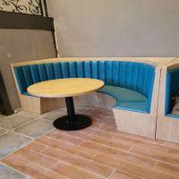 倍斯特当季热销简约现代原木色餐桌创意中餐西餐休息奶茶厂家定制