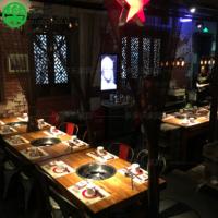 多多乐厂家定制实木老火锅桌餐椅卡座沙发 简约现代火锅桌椅