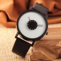 批发新概念个性倒指针手表 女 韩版简约黑白情侣手表 男士手表