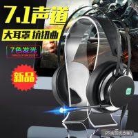 电脑游戏耳机7.1/3.5声道头戴式耳麦绝地求生电竞带麦克风网吧