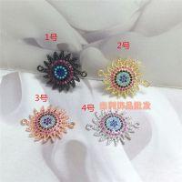 diy饰品手工串珠配件材料链接扣水晶手链单排扣土耳其款式