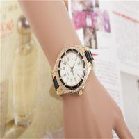速卖通ebay热卖 日内瓦男士女士钢带镶钻仿陶瓷手表女款时尚手表