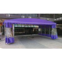 合肥厂家制作活动推拉蓬移动仓库棚伸缩雨蓬钢构工厂车间篷