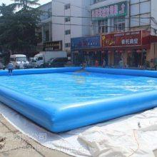 蓝色充气游泳池河北石家庄儿童水池订做