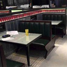 莆田一线连锁品牌茶餐厅家具定做,茶餐厅卡座沙发桌子组合
