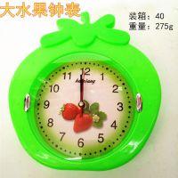 批发 创意挂钟塑料钟表客厅挂钟9元9店地摊货源活动 卡通水果钟表