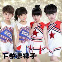 六一儿童啦啦操演出服装男女童健美操舞蹈裙幼儿园啦啦队体操服