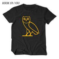 外贸新款猫头鹰男士短袖纯棉T恤夏季青少年圆领套头T恤打底