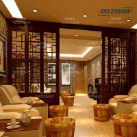 江苏-扬州室内木纹铝合金窗花定制 中式风格仿实木