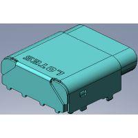 原厂LOTES USB TYPE C母座 CH=2.68mm 斜口